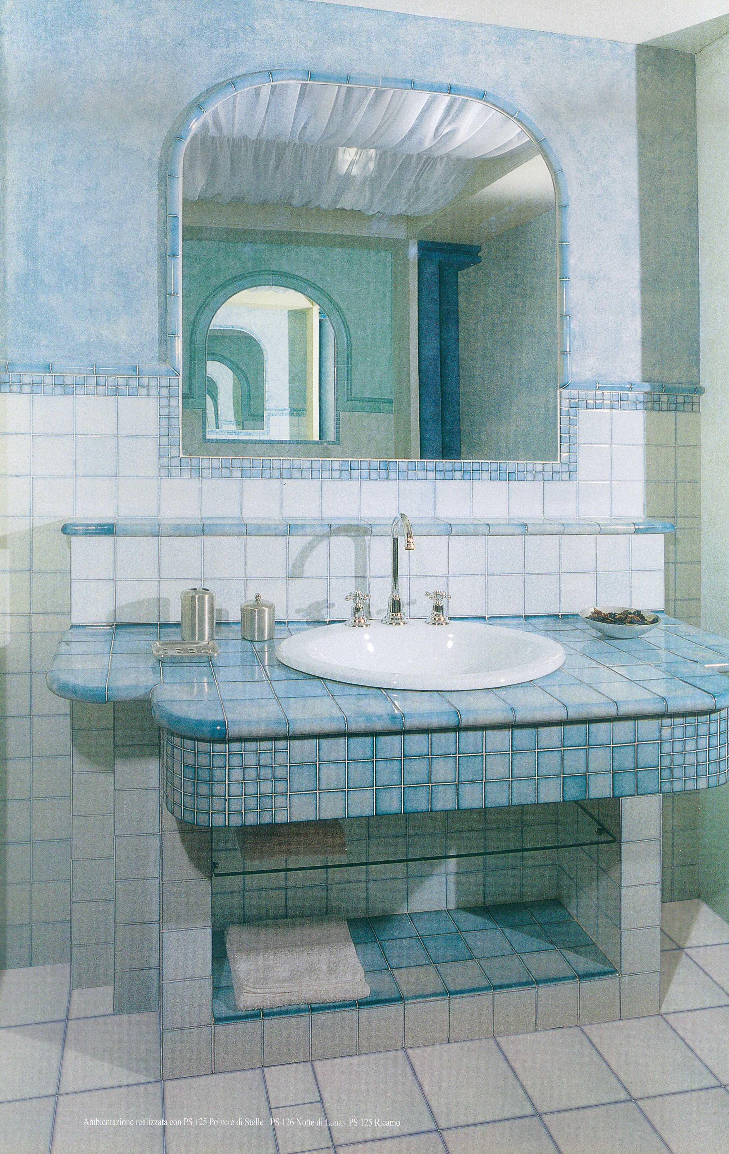Piastrelle pavimento rivestimento bagno fac azzurre blu - Piastrelle 10x10 bagno ...