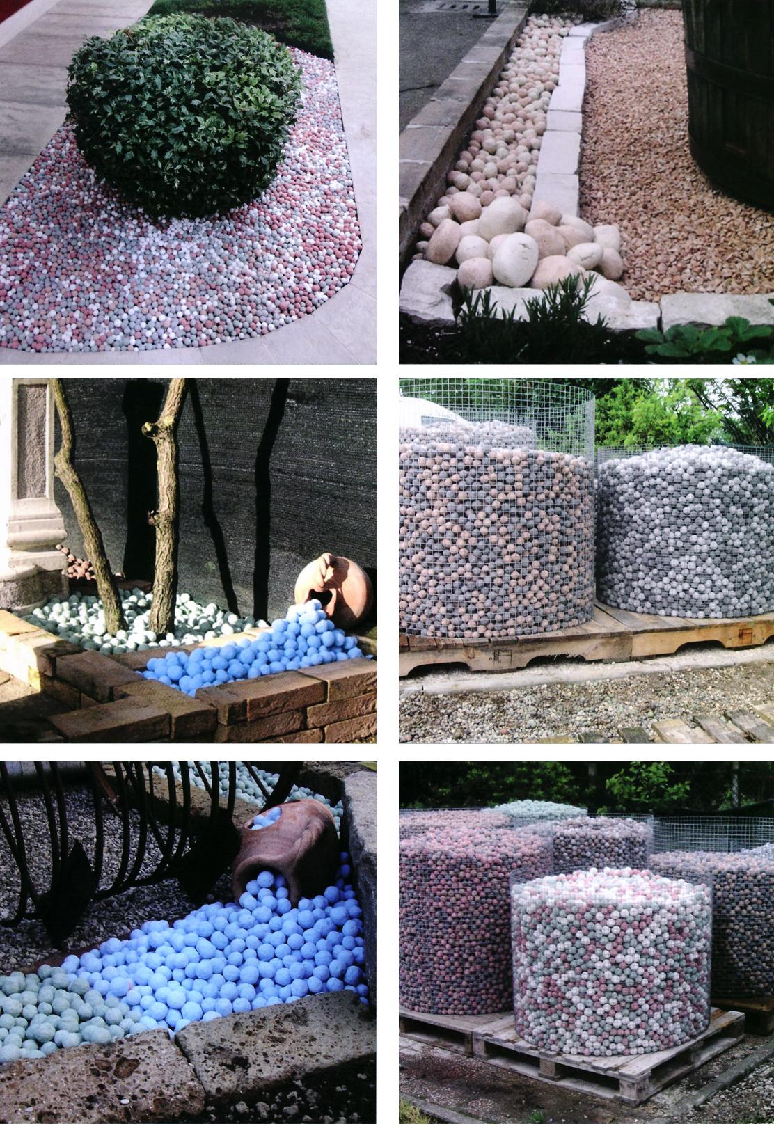 Kiesel farbig zierpflanzen viel 20 kg steine m bel garten for Dekor von zierpflanzen